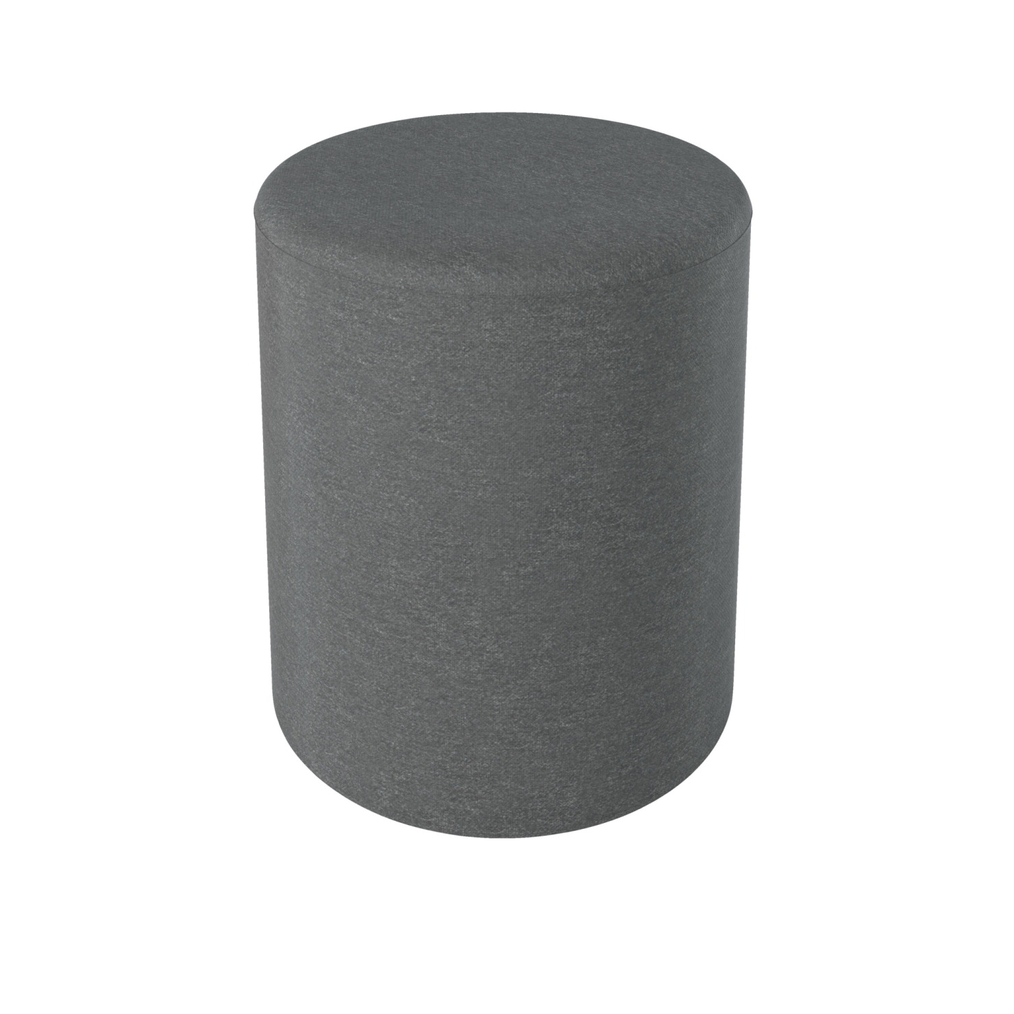 Balt Economy Pouf Stool/Ottoman - Small, 12 x 12 x 16-1/2 Inches, Gray