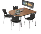 Balt MediaSpace Small Laminate Top Table, 60 x 48 x 22 to 32 Inches, Various Options
