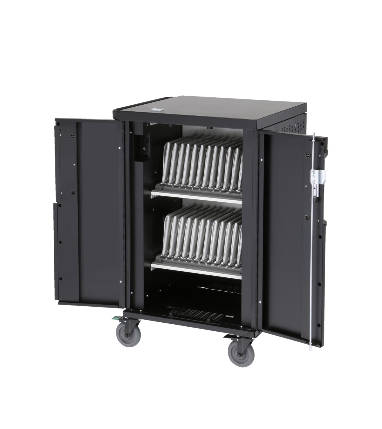 Bretford CoreX Charging Cart, 2 Shelves Holds 20 to 24 Devices