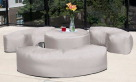 Jaxx Lenox Bean Bag Bench, 24 in W x 59 in D x 15-1/2 in H, Various Colors Available, Each