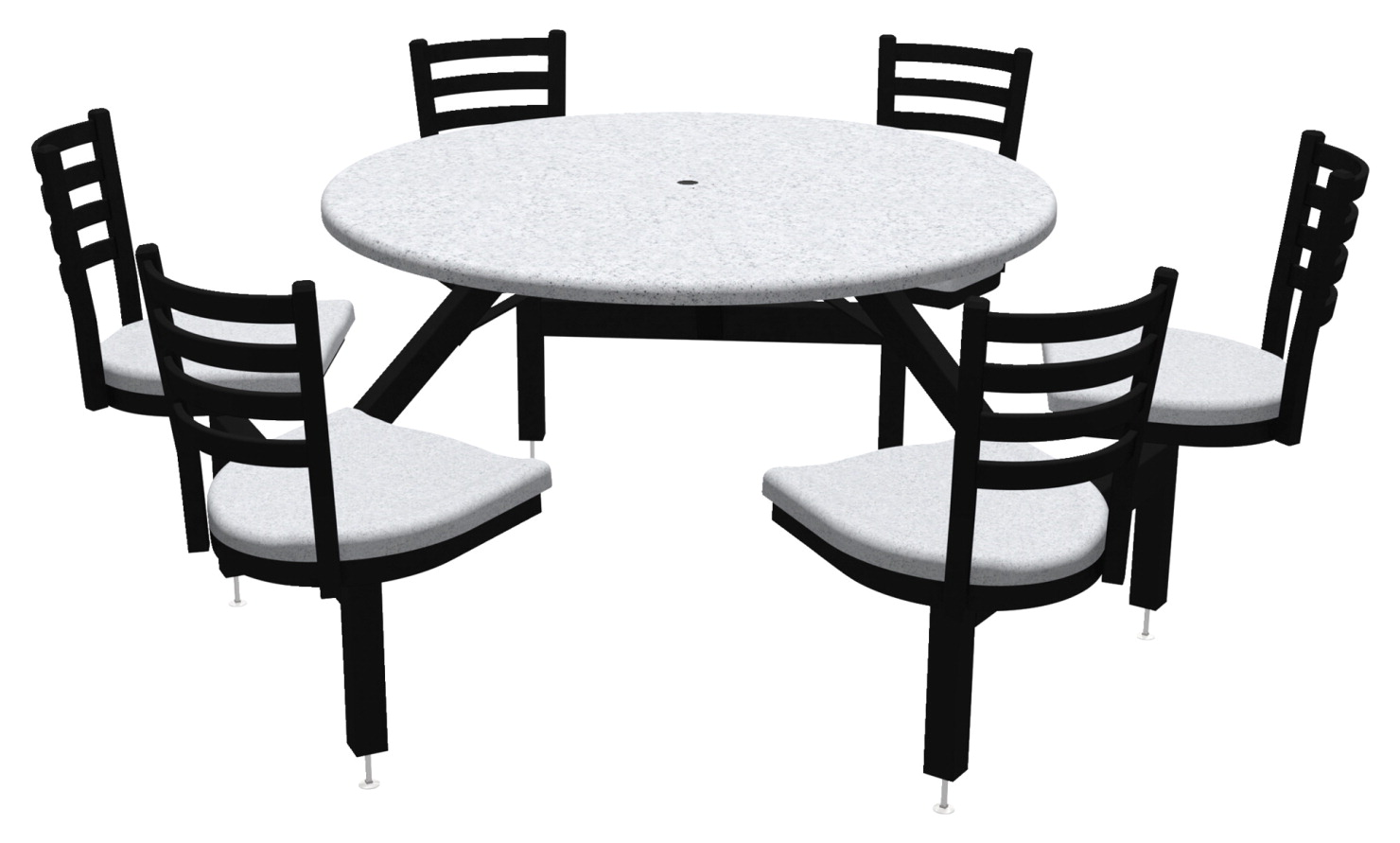 Palmer hamilton round outdoor table with glides 6 seats various options school specialty marketplace