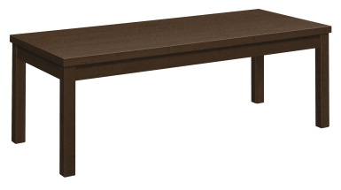 Hon laminate coffee end table 48 x 20 x 16 inches mocha for Coffee tables 16 inches high
