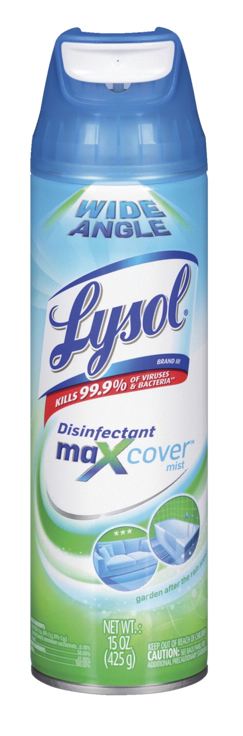 lysol disinfectant maxcover mist 15 oz garden clear school specialty marketplace. Black Bedroom Furniture Sets. Home Design Ideas