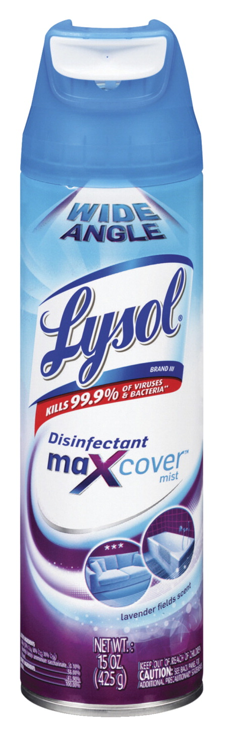 lysol disinfectant maxcover 15 oz lavender clear school specialty marketplace. Black Bedroom Furniture Sets. Home Design Ideas