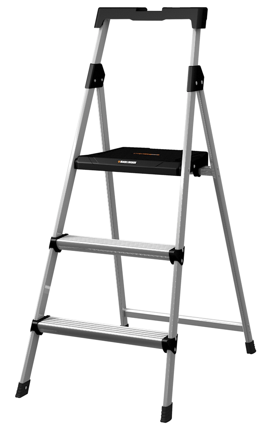 Davidson ladders steel step stool w slots 20 1 2 x 4 x 50 for Escalera aluminio plegable easy