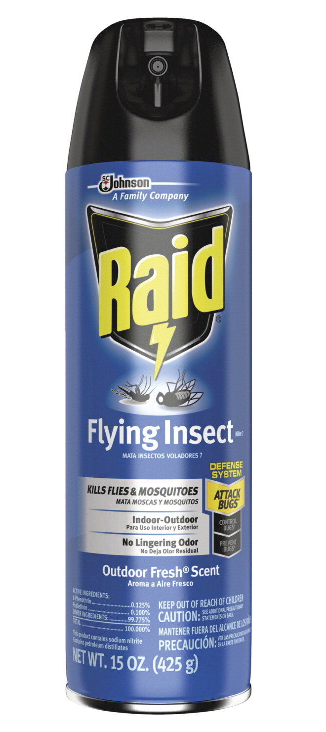 Raid Flying Insect Spray, 15 Ounces, Outdoor Fresh Scent
