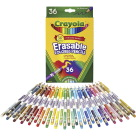 Crayola Erasable Colored Pencils, 3.3mm Lead, Assorted, Pack of 36