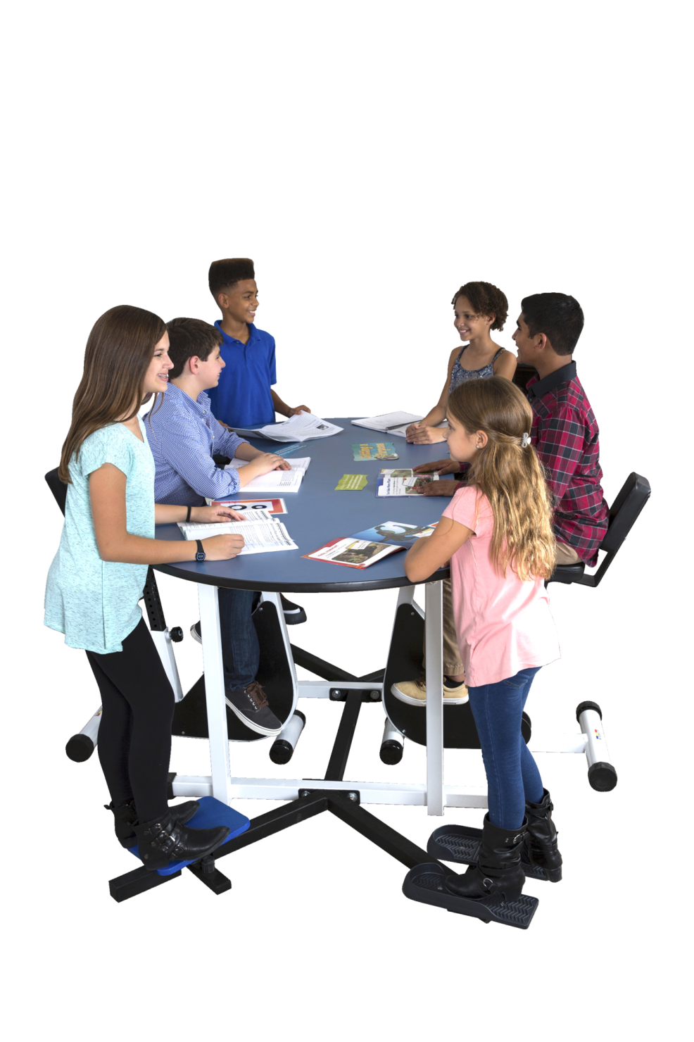 KIDSFIT KC-6ST Six Person Variety Desk, Standing