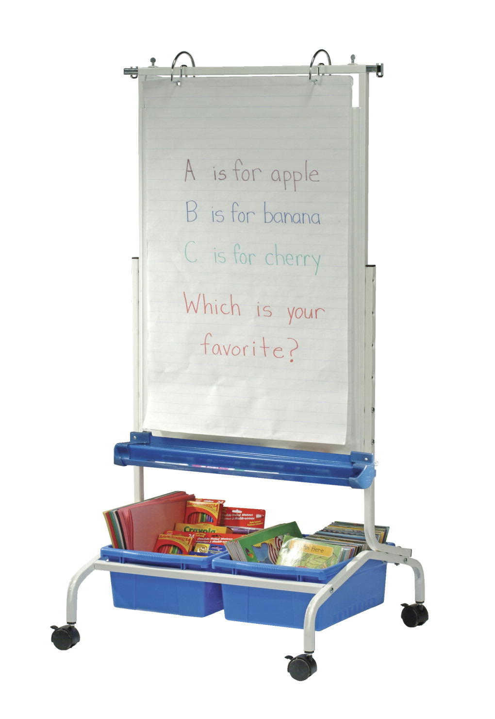 Copernicus Deluxe Chart Stand Blue White Classroom Direct