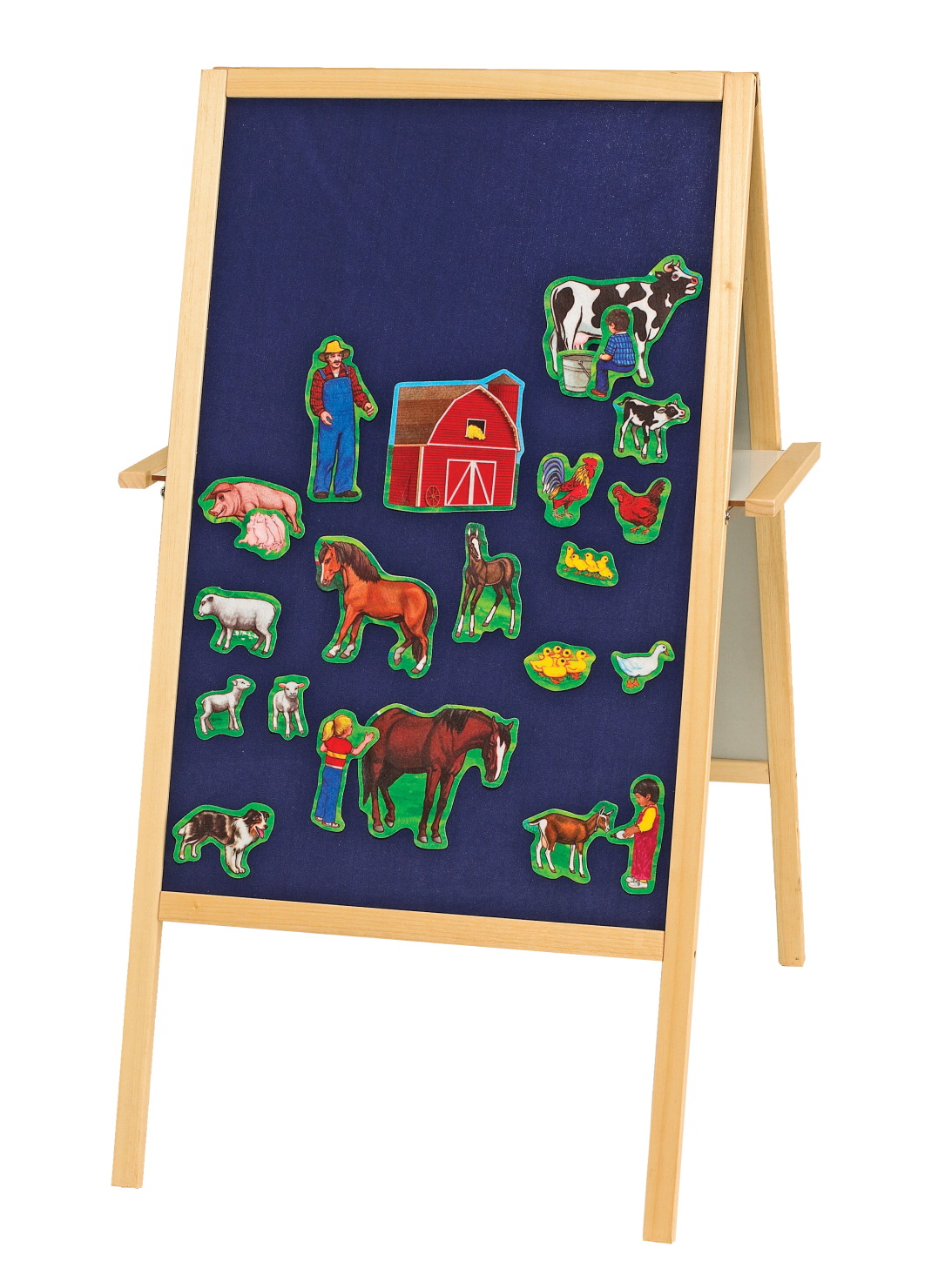 Best-Rite Magnetic Flannel/Dry-Erase Easel, Blue