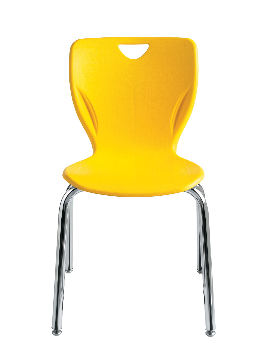 Classroom Select Contemporary Chair, 12 Inch Seat Height, Chrome Frame, Various Options