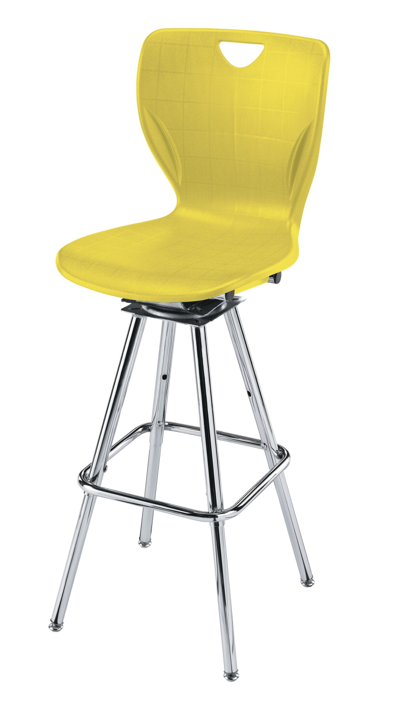 Classroom Select Contemporary Swivel Stool, Adjustable Height, A Shell, Chrome Frame